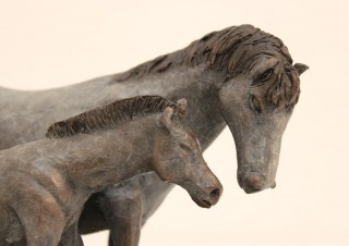 Dapple Horse and Foal