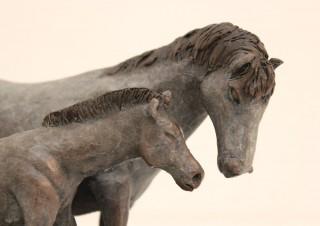 Dapple Horse and Foal