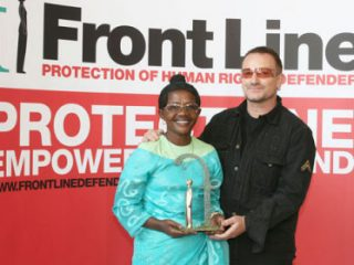 Gege presented by Bono Frontline Award