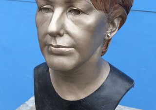 Mary McAleese Portrait Bust at Aras and Uactairain 2012 Refurbishment (2)