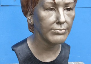 Mary McAleese Portrait Bust at Aras and Uactairain 2012 Refurbishment