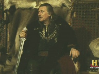 Vikings Gabriel Byrne with Swoird