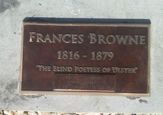 Francis Browne Blind Poetess Plaque