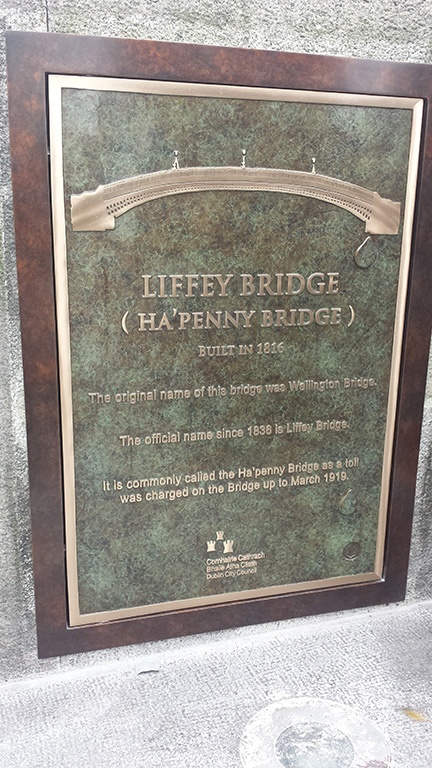 Hapenny Bridge Plaque