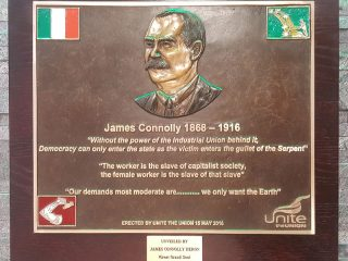 1 Unite James Connolly Plaque Abbey St