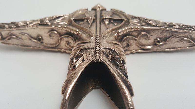 22 Heartsbane Finished Bronze Crossguard