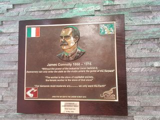 4 Unite James Connolly Plaque Abbey St