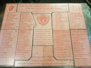5 O'Connells School Plaque 5 ft x 4 ft Plate Cut up into 10 Sections